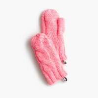 Girls' neon mittens