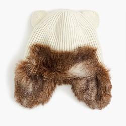 Girls' cat-ear trapper hat