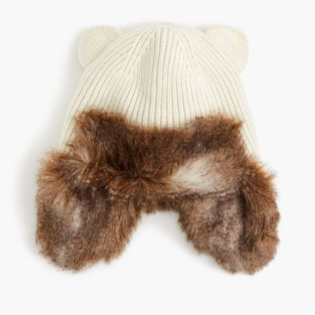 Girls' cat-ear trapper hat