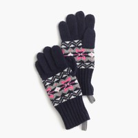 Girls' Fair Isle gloves in navy