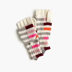 Girls' mixed-stripe glittens