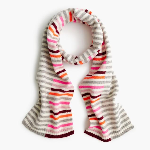 Girls' mixed-stripe scarf