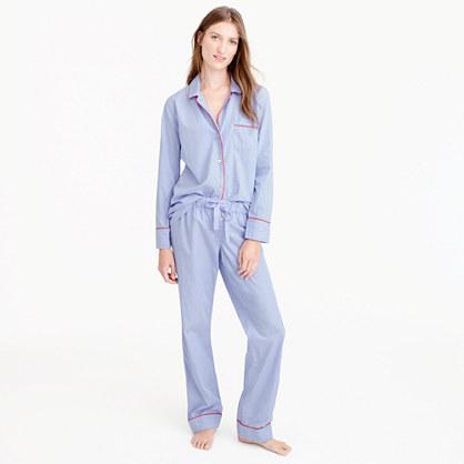 Petite tipped vintage pajama set