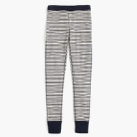 Waffle navy striped leggings