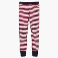 Waffle striped leggings