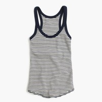 Waffle navy striped tank top