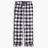 Petite buffalo check pajama pant
