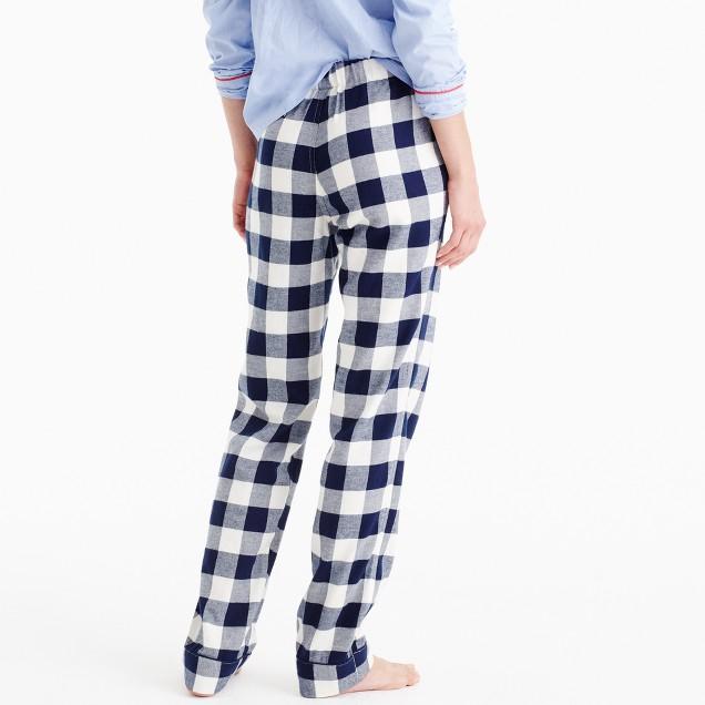 Tall Buffalo Check Pajama Pant : Women's Pajamas & Sleepwear | J.Crew