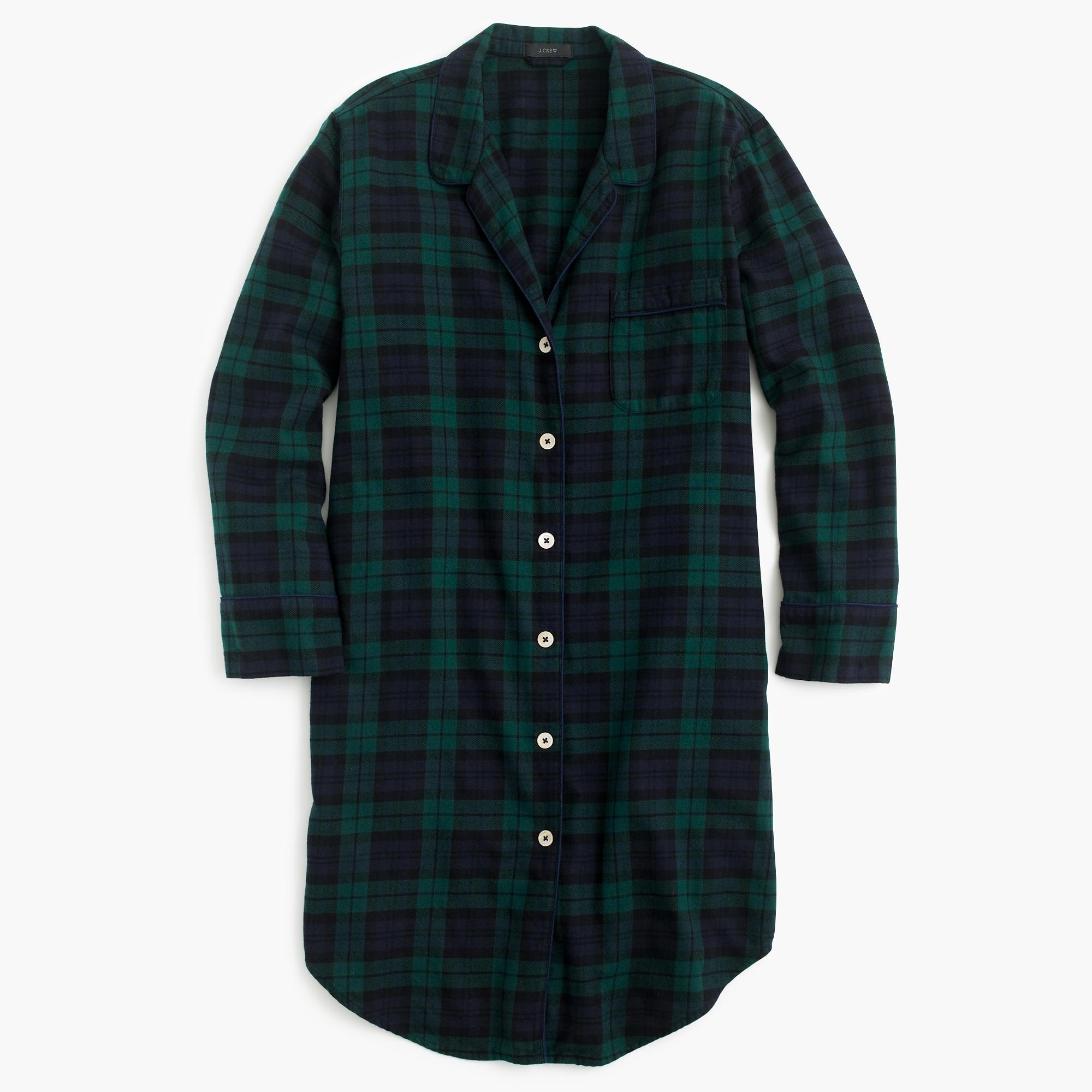 nightshirt in black watch flannel   women u0026 39 s pajamas  u0026 sleepwear