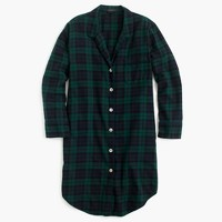 Nightshirt in Black Watch flannel