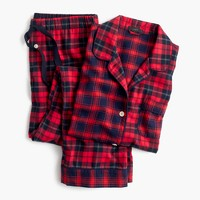 Mixed plaid flannel pajama set