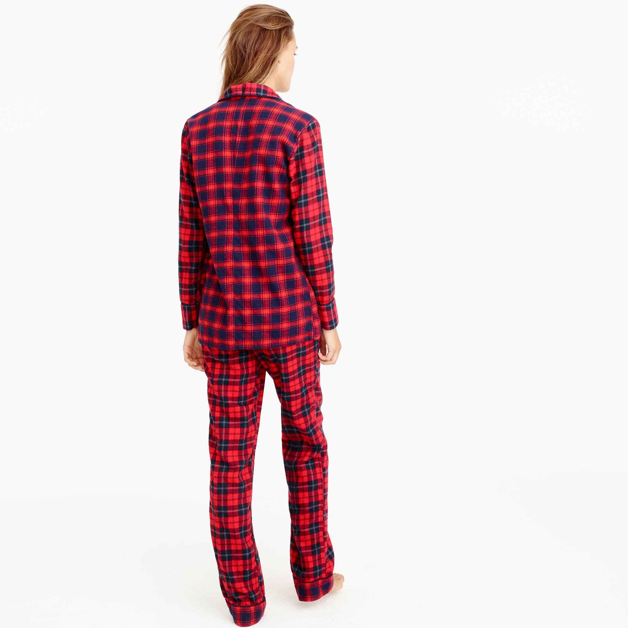 Mixed Plaid Flannel Pajama Set : Women's Pajamas & Sleepwear   J.Crew
