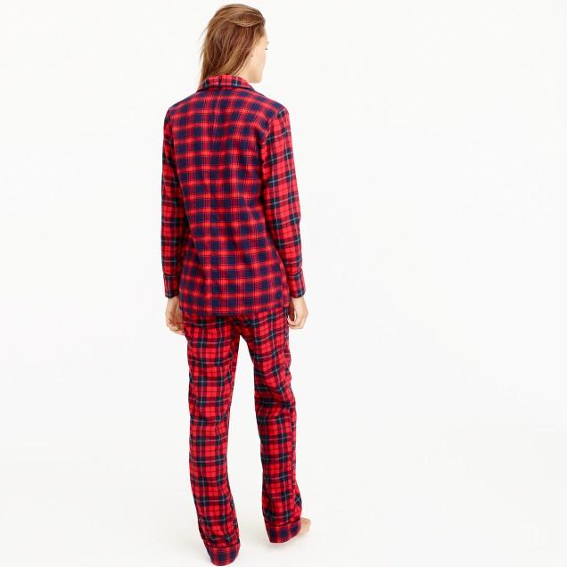 Petite Mixed Plaid Flannel Pajama Set : Women's Pajamas ...