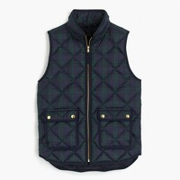 Petite Black Watch excursion quilted vest