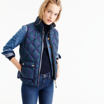 Petite Black Watch Excursion Quilted Vest : Women's Coats ...