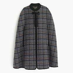 Collection zip cape in tartan