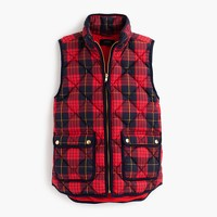 Petite excursion vest in tartan