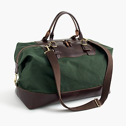 Billykirk® for J.Crew waxed canvas weekender bag