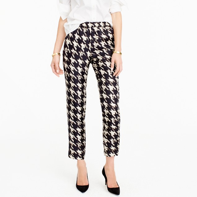 Silk twill pant in wolfstooth