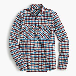 Boyfriend shirt in crimson petal plaid