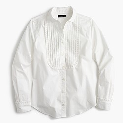 Tuxedo shirt with ruffles