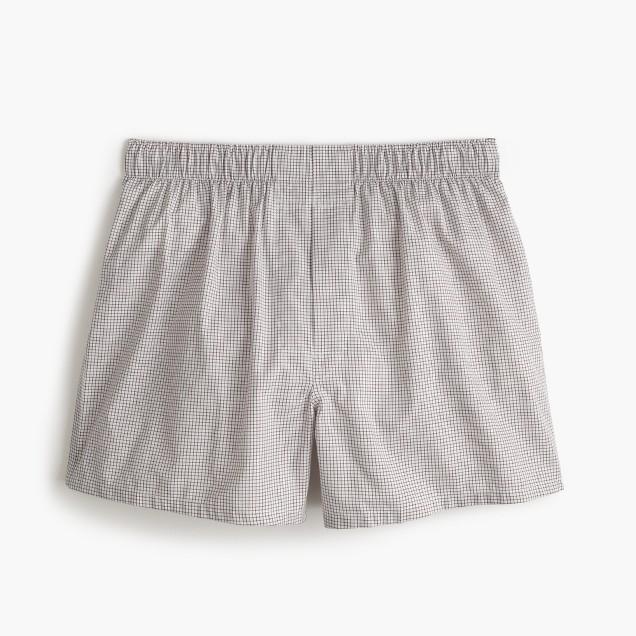 Windowpane check boxers