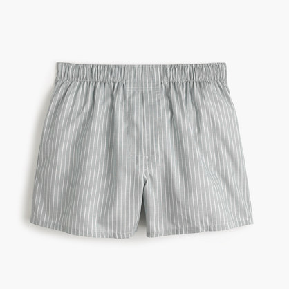 Grey striped boxers