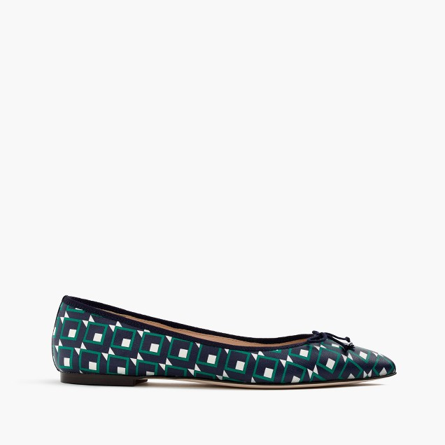 Gemma flats in shadowbox-print leather
