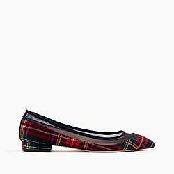 Mesh flats in Stewart plaid