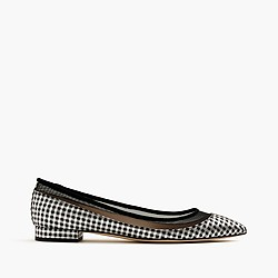 Mesh flats in metallic houndstooth