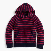 Boys' striped popover hoodie