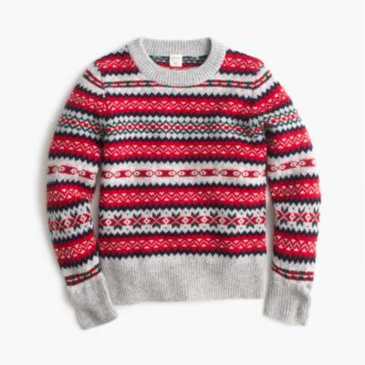 Boys' Fair Isle Crewneck Sweater : Boys' Sweaters | J.Crew
