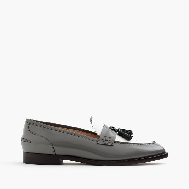 Biella loafers in colorblock leather