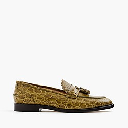 Biella loafers in crocodile-embossed leather