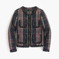Quilted lady jacket in Stewart plaid