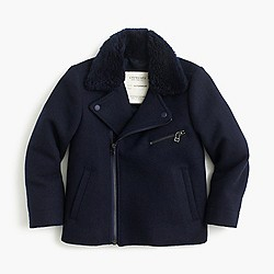 Kids' wool melton bomber jacket