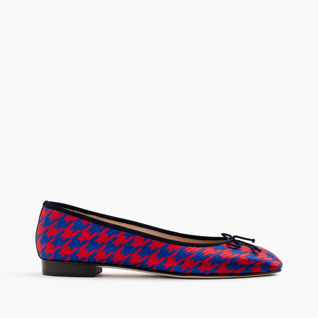Kiki ballet flats in houndstooth jacquard