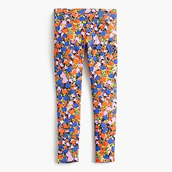 Girls' everyday legging in blurred floral print