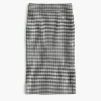 Pencil skirt in Italian confetti houndstooth