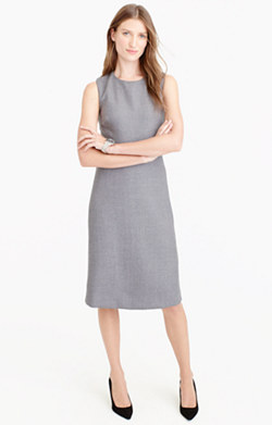 A-line dress in double-serge wool