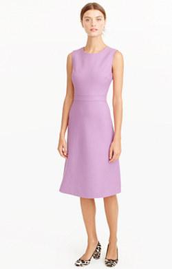 A-line dress in double-serge wool