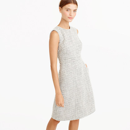 Petite A-line dress in shimmer tweed