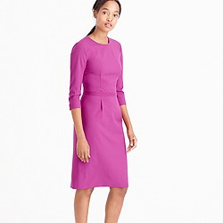 Bracelet-sleeve dress in Italian stretch wool