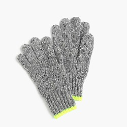Kids' speckled Donegal wool gloves