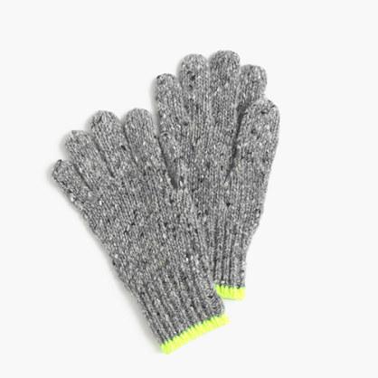 Kids' speckled Donegal wool gloves