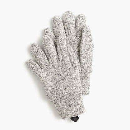 Kids' heather fleece gloves