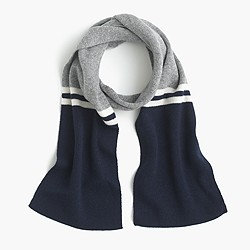 Kids' striped cashmere scarf