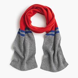 Kids' striped cashmere scarf