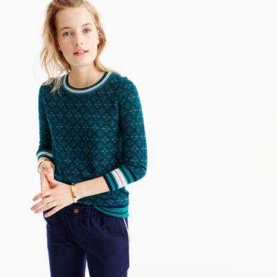 Tippi Sweater In Festive Fair Isle : Women's Sweaters | J.Crew