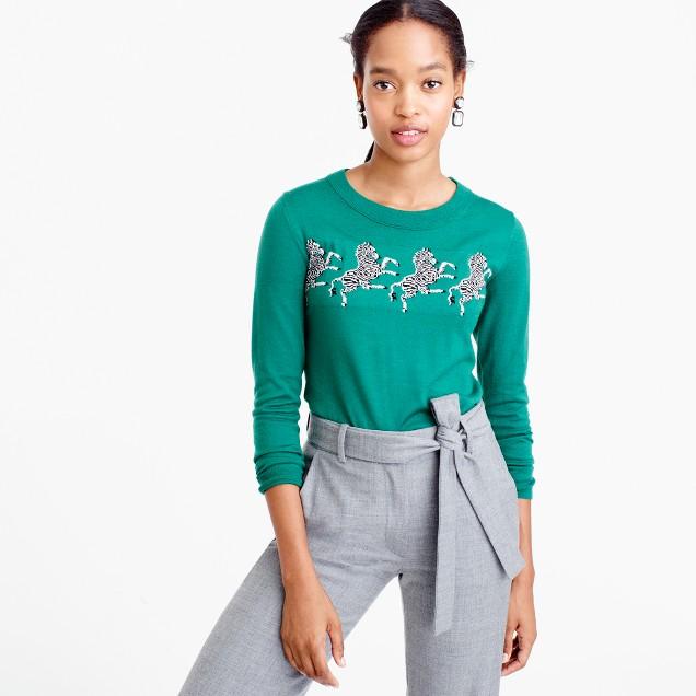 Tippi sweater in zebra print